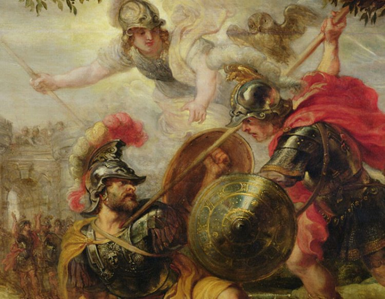 Achilles slays Hector. The gods approve.